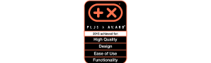 Plus X Award<br>Plus X Award for High Quality, Design, Ease of Use and Functionality