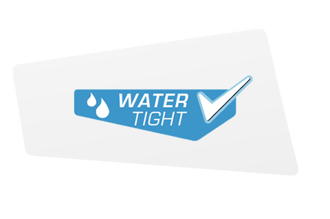 Watertight in accordance with IPX8